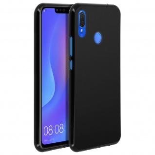 Gelhülle, flexibles Backcover für Huawei P Smart Plus, frosted case - Schwarz - Vorschau 2