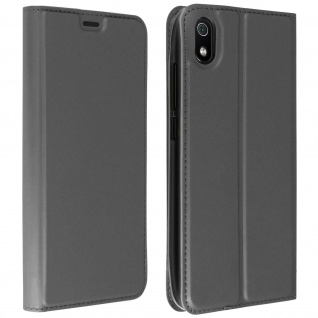 Flip Cover, Klappetui mit Kartenfach & Standfunktion Xiaomi Redmi 7A - Grau