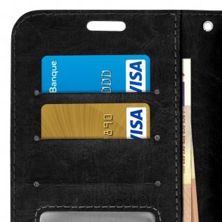 Flip Stand Cover Brieftasche & Standfunktion für Moto G7, Moto G7 Plus - Schwarz - Vorschau 5