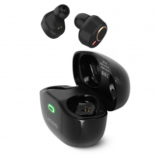 Lenovo X18 Bluetooth Sport IPX4 in-ear Kopfhörer, 24 Std. Akkulaufzeit ? Schwarz