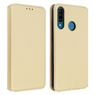 Kunstleder Cover Classic Edition Wiko View 3 - Gold