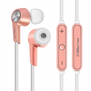 Bluetooth HD-Audio in-ear Magnetic Kopfhörer by Akashi - Rosegold