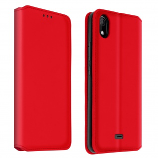 Kunstleder Cover Classic Edition Wiko Y61 ? Rot