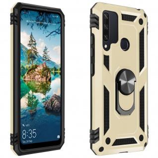 Hybrid Handyhülle mit Ring Halterung für Huawei Y6p ? Gold