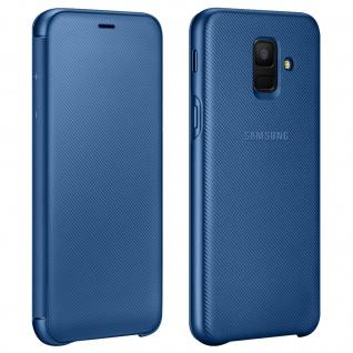 Samsung Wallet Cover für Samsung Galaxy A6, Original Schutzhülle - Blau