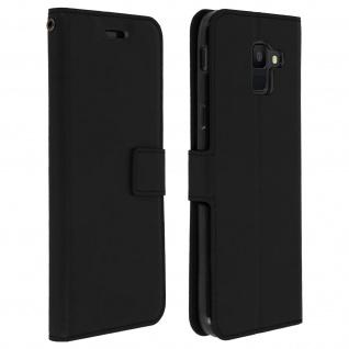 Flip Cover Stand Case Brieftasche & Standfunktion Samsung Galaxy A6 - Schwarz