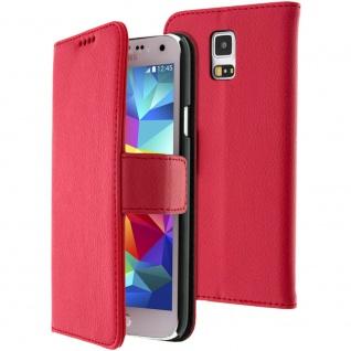Flip-Schutzhülle mit Standfunktion für Samsung Galaxy S5/ Galaxy S5 Neo - Rot