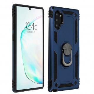 Hybrid Handyhülle mit Ring Halterung für Samsung Galaxy Note 10Plus ? Dunkelblau