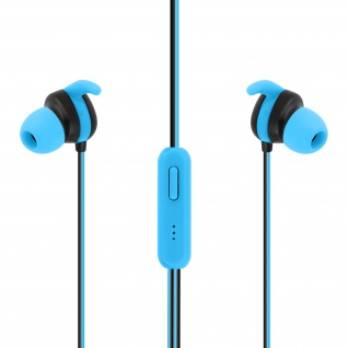 Setty Sport in-ear Kopfhörer mit 3.5mm Klinkenstecker und Mikrofon ? Blau