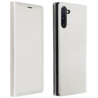 Flip Book Cover, Klappetui aus Kunstleder für Samsung Galaxy Note 10 - Weiß