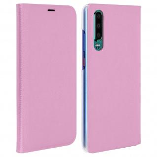 Flip Book Cover, Klappetui aus Kunstleder für Huawei P30 - Rosa