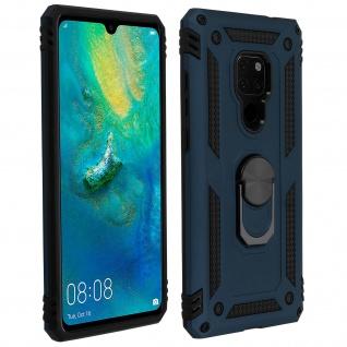 Hybrid Handyhülle mit Ring Halterung für Huawei Mate 20 - Dunkelblau