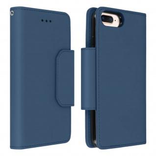 Soft Touch Klappetui mit Hülle für iPhone 6 Plus/6S Plus/7 Plus/8 Plus ? Blau