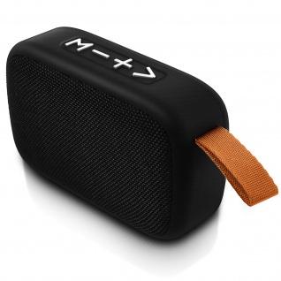 F4276 Bluetooth kabelloser BTS Lautsprecher mit Mikrofon - Schwarz