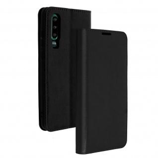Business Leder Cover, Schutzhülle mit Geldbörse für Huawei P30 - Schwarz - Vorschau 2