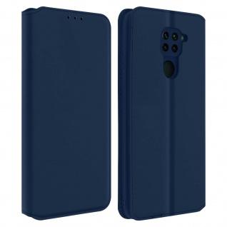 Kunstleder Cover Classic Edition Xiaomi Redmi Note 9 - Blau