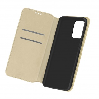 Kunstleder Cover Classic Edition für Samsung Galaxy A72 ? Gold