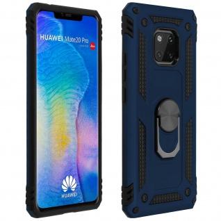 Hybrid Handyhülle mit Ring Halterung für Huawei Mate 20 Pro ? Dunkelblau