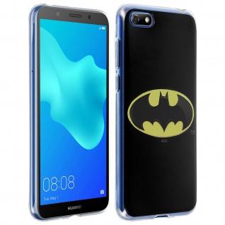 DC Comics Batman Gelhülle, Silikon Hülle für Huawei Y5 2018/Honor 7S â€? Schwarz