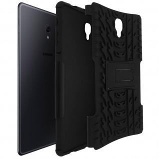 Stoßfeste Schutzhülle aus Silikon, Standcase für Galaxy Tab A 10.5 - Schwarz