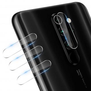 4x Rückkamera Folien, 7H Glas für Xiaomi Redmi Note 8 Pro, 3mk ? Transparent