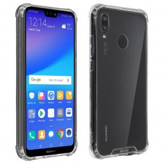 Roar Huawei P20 Lite flexible stoßfeste Silikon Schutzhülle - Transparent