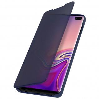 Samsung Galaxy S10 Plus Cover mit Spiegeleffekt & Standfunktion - Dunkelblau