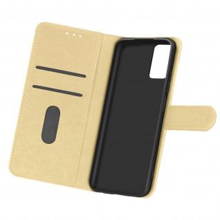 Flip Cover Geldbörse, Etui Kunstleder für Samsung Galaxy A32 ? Gold