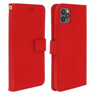 Apple iPhone 11 Pro Flip-Cover mit Kartenfächern & Standfunktion - Rot