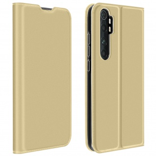 Klappetui mit Kartenfach & Standfunktion Xiaomi Mi Note 10 Lite ? Gold