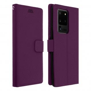 Samsung Galaxy S20 Ultra Flip-Cover mit Kartenfächern & Standfunktion â€? Violett
