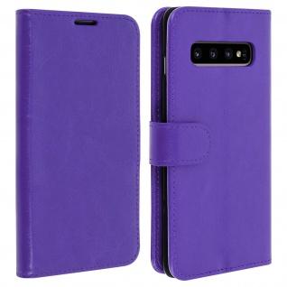 Flip Stand Cover Brieftasche & Standfunktion für Samsung Galaxy S10 - Violett
