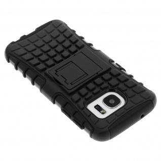 Schutzhülle mit Hartschale + Standfunktion für Samsung Galaxy S7 - Schwarz