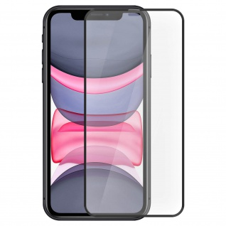 Tiger Glass Displayschutzfolie by Muvit für Apple iPhone 11 - Rand Schwarz