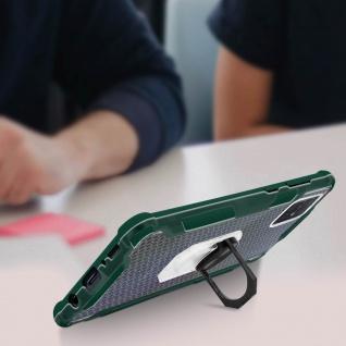 Hybrid Handyhülle mit Ring Halterung für Galaxy A51 - Grün - Vorschau 5