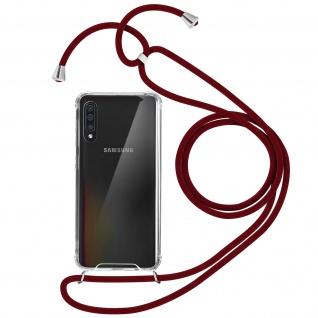 Handykette Handyhülle mit Halsband für Samsung Galaxy A50 - Rot