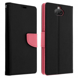 Fancy Style Cover Sony Xperia 10, Fach und Standfunktion � Rosa