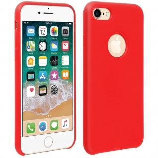 Halbsteife Silikon Handyhülle Apple iPhone 7 / 8 / SE 2020, Soft Touch - Rot