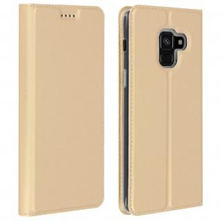 Dux Ducis Flip Cover Samsung Galaxy A8 mit Kartenfach & Standfunktion - Gold