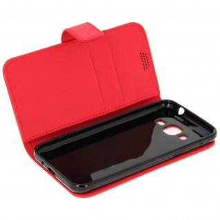 Flip-Schutzhülle mit Standfunktion für Samsung Galaxy J3 - Rot