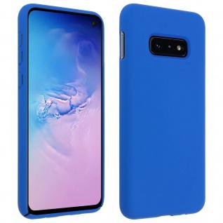 Halbsteife Silikon Handyhülle Samsung Galaxy S10e, Soft Touch - Blau