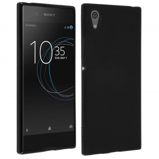 Bruchsichere Schutzhülle aus Silikon für Sony Xperia XA1 - Schwarz