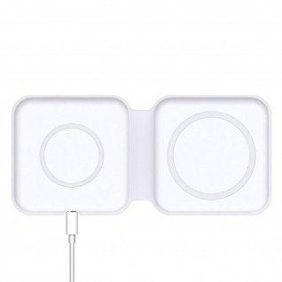 Magsafe Charger, Dual Magnetic Stand 15W, 4Smarts UltiMAG DuoFold - Weiß