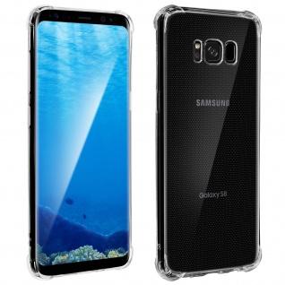 Flexible und durchsichtige Samsung Galaxy S8 Silikon Bumper Hülle, stoßfest