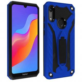Huawei Y6 2019 Hybrid stoßfeste Schutzhülle mit Ständer - Blau