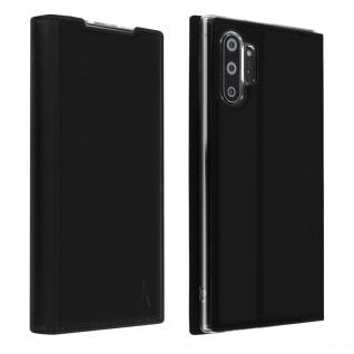 Akashi Flip Cover Geldbörse für Samsung Galaxy Note 10 Plus â€? Schwarz