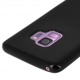 Flexible kratzfeste Schutzhülle aus Silikon für Samsung Galaxy S9 - Schwarz - Vorschau 4