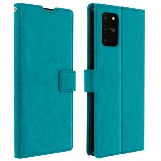 Flip Stand Case Brieftasche & Standfunktion für Galaxy S10 Lite - Blau
