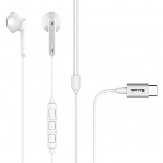 Baseus USB-C in-ear Kopfhörer mit Fernbedienung und Mikrofon - Weiß