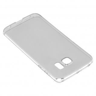 Samsung Galaxy S6 Edge Schutz-Set - transparente Hülle + Glas-Displayschutzfolie